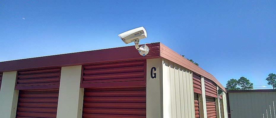 Secure Self Storage Montgomery AL - video surveillance camera mounted on storage building G