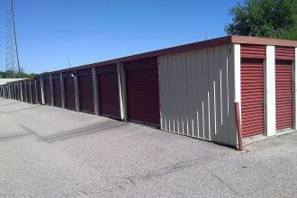 10 x 10 Medium Storage Units Montgomery AL - row of storage units in building section F