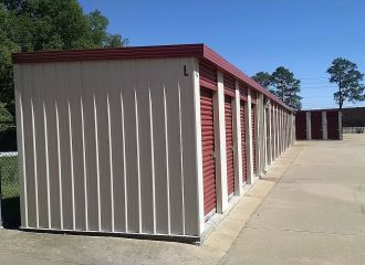 5 x 5 Storage Units Montgomery AL - side view storage building L