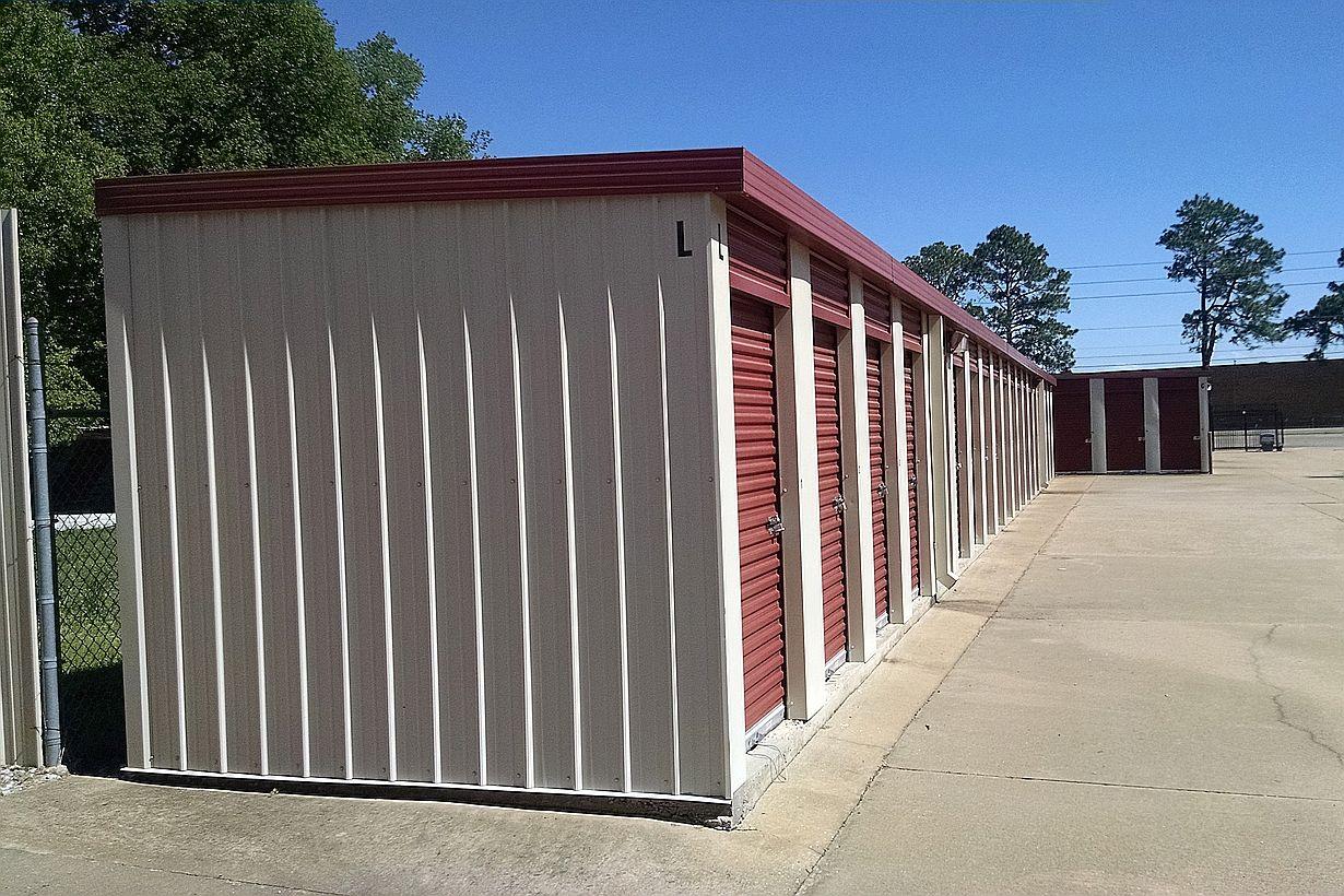 5 x 5 Storage Units Montgomery AL - side view storage building L & Gunter Self Storage u2013 Units Montgomery AL Mini Storage Prices ...