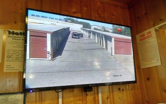 Self Storage Video Surveillance Montgomery AL - security monitor in Gunter Self Storage office facility